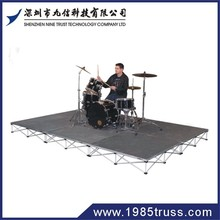 folding portable mobile event stage