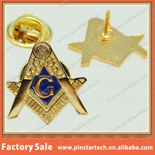 Custom Blue Lodge Square & Compasses Masonic Freemason Hat Lapel Pin