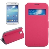 Paypal acceptable Horizontal Leather Caller ID Window cover for Samsung s4