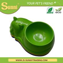 Small animals cat shape disposable plastic bowl