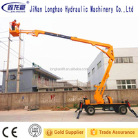 10m 360 Degree Rotating Hydraulic Crank Lift Platform