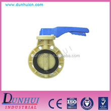 PVC CPVC PVDF PP Butterfly Valve with Gearbox and Hand Lever
