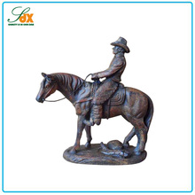 Hot in alibaba resin a ridding man and a horse sculpture statue