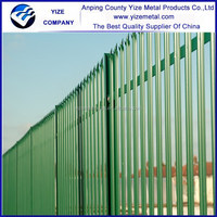 ISO9001 certificates high quality Beautiful Metal Palisade Fences and Gates for sale/powder coated palisade fence