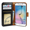 for s6 edge leather case, pu leather flip cover for s6 edge wallet