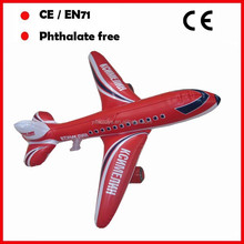 6P phthalate free PVC inflatable airplanes for promotion of air flight company