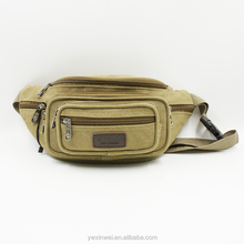 Outdoors Hiking waist bag with many pockets, the popular canvas waist bag