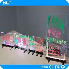 hardered backboard mini tempered LED writing advertisment Board