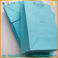 Matt lamination gift paper bag Custom PP Ribbon Handle Shopping Paper Bags
