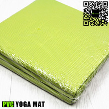Eco Pvc Yoga Mat Fluorescent Green Fold Up with Custom Label