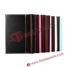 Universal Leather Case for Tablet PC/iPad Mini 8 inch China with Fasten Tab