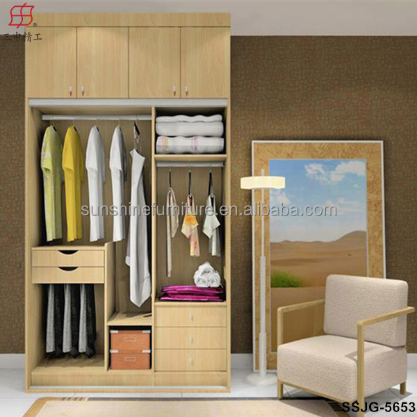Top sale large medium and small size wooden laminate for Wooden almirah designs for living room