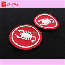 Fashion Design Garment Accessories Heat Transfer Label Cheap Custom Embossed Label For Jeans