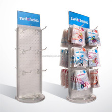 rotating counter display for cosmetics eyeglasses hats bags chain accessories