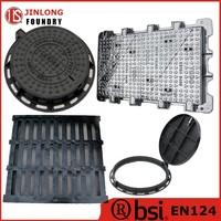 EN124 cast iron standard manhole cover sizes factory sale