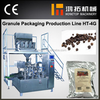 Certified full automatic granule pouch packing machinery