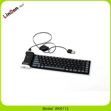 Waterproof Universal Roll Silicone Bluetooth Keyboard for tablet accessaries laptop,computer,notebook