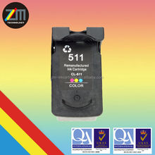 for CANON 511 XL COLOR printer remanufactured inkjet cartridge