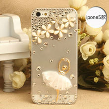 Hot Selling Cheap Price Ballerina Girl Hard Clear Crystal Diamond Mobile Phone Cover for iPhone 5