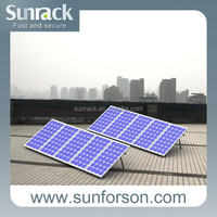Easy install stand for solar panel installation