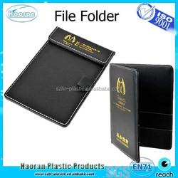 Company service use leather set of file folder and bag