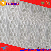 high quality heavy emborideried white cotton swiss voile lace fabric