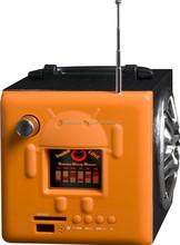 2015 product new cute music mini digital android robot box speaker