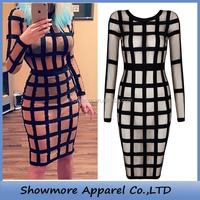 Style Number L303 cut out bandage dress wholesale