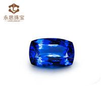 High Quality 14.39ct Cushion Cut 12x18mm Natural Tanzanite Loose Stone , Blue Natural Tanzanite Wholesale On Line