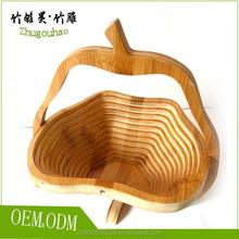 Cheap bamboo fruit basket folding apple basket