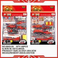 2013 1:87 scale 6603-20 fire fighter car model model fire truck for sale
