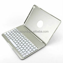 alibaba new product 2015 ultrathin aluminum alloy luminous Bluetooth Keyboard Case for ipad air and air 2