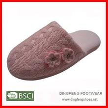 Woman footwear designs cashmere bedroom or indoor slippers
