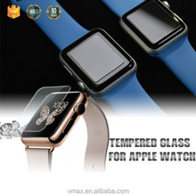 2015 New Arrival !! 0.38mm/42mm Size 9H Hardness Smart Watch Tempered Glass LCD Screen protector for Apple Watch