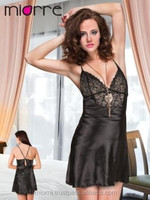 Miorre Hot Sexy Transparent Nightgown With Tulle , Lingerie