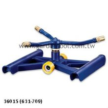 Plastic sled base with Metal 3-arm rotary sprinkler