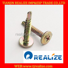 Manufacture low price wafer head C1022 self drilling screws