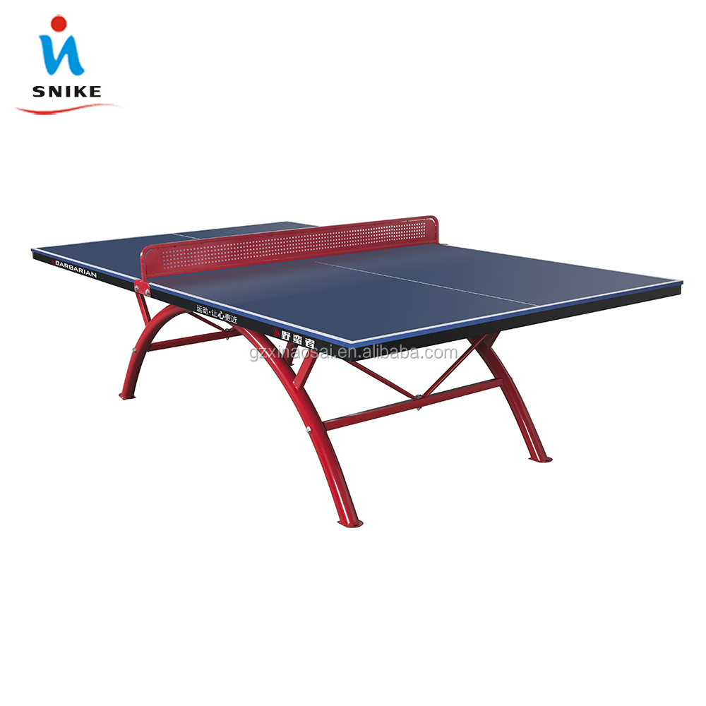 Indoor Double Fold Table Tennis Table And Waterproof Pingpong Table