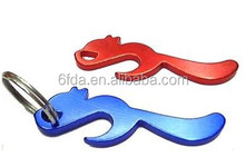 Keychain metal bottle opener custom logo animal shaped