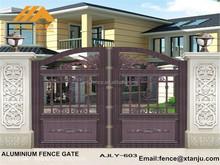 Modern Aluminium main gate designs for home villa AJLY-603