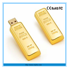 China factory promotion gift 2 tb 3.0 gold bar usb flash drive