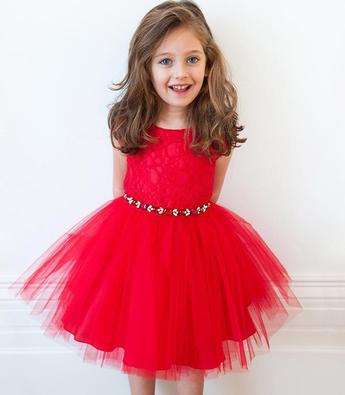 Best selling christmas gifts 2016 girls christmas dress red children