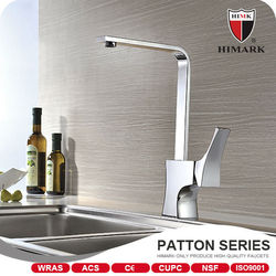Single handle chrome brass commercial kitchen faucet with UPC