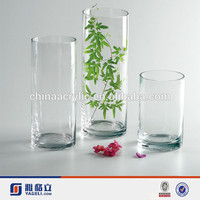 Large clear tall acrylic vases