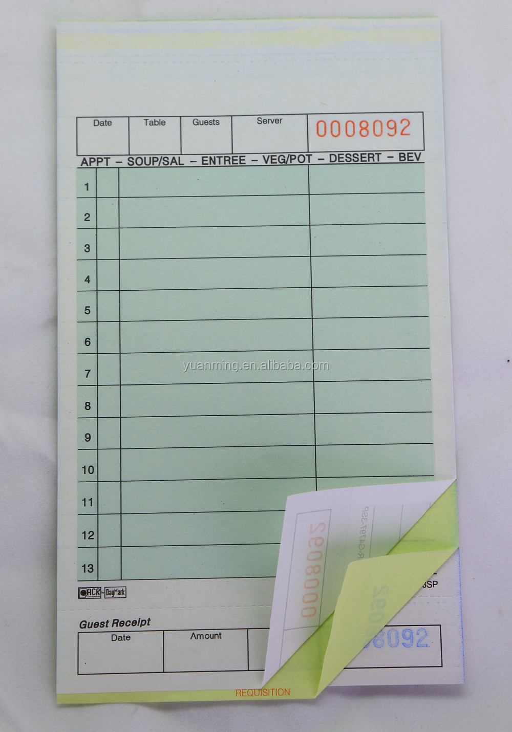 Good Quality Ncr Paper Triplicate Sales Order Form For Kitchen - Buy ...