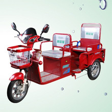 China made in 3 wheel 2seats motorcycle electric tricycle adults