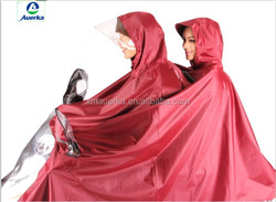 Fashinable PVC rain poncho for motorcycle,bicycle and e-scooter rain poncho