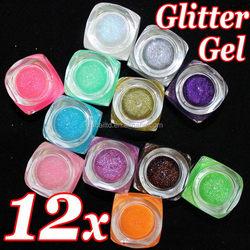 Fablous Anti-acid colorful glitter powder for nail polish Children DIY