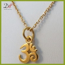 Daihe DH-NC1818 18kgp gold necklace,tiny om pendant,om necklace