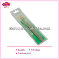 Stainless steel professional eyelash extension tweezers D-075